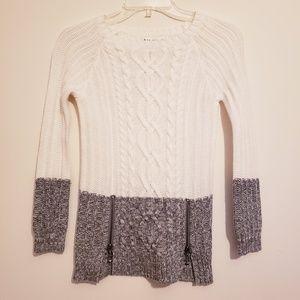 Max Studio Crewneck Sweater White Grey Size Small
